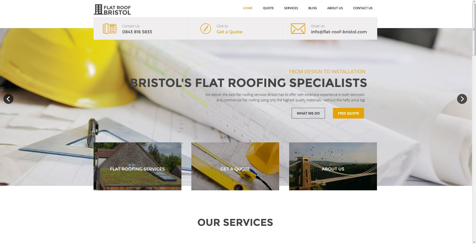 New website for Flat Roof Bristol