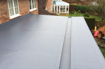 a flat roofing example