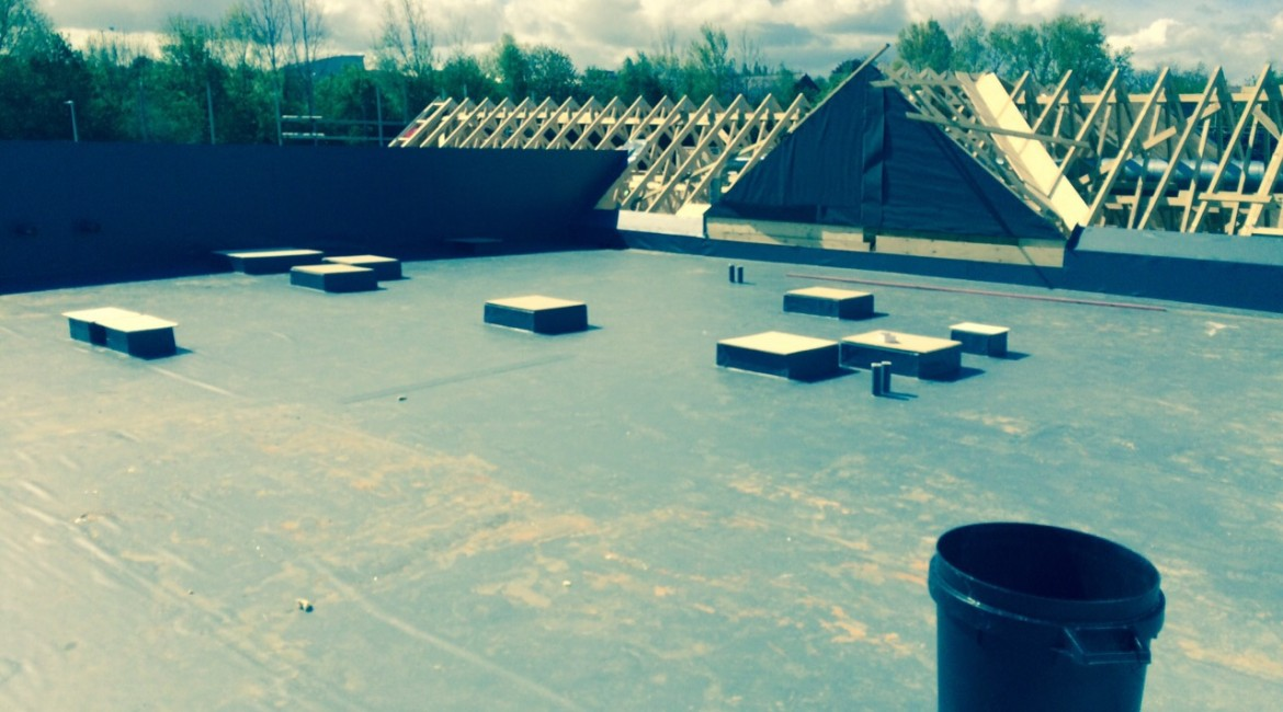 flat roofing design
